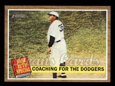 2011 Topps Heritage #142 BR  -  Babe Ruth Coaching For The